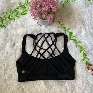 Lululemon • Strappy Black Sports Bra
